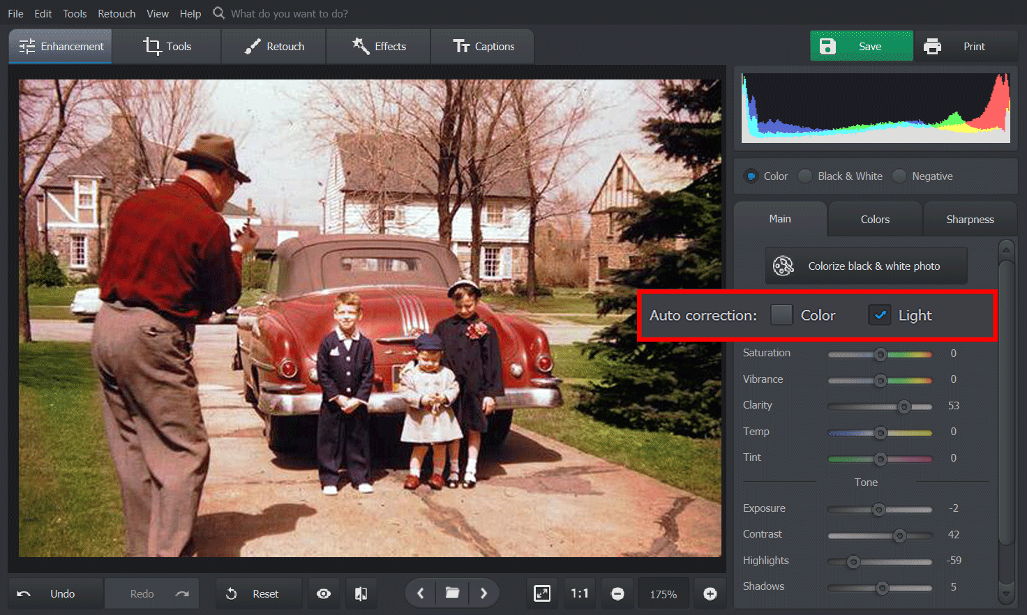 How to color correct old photos